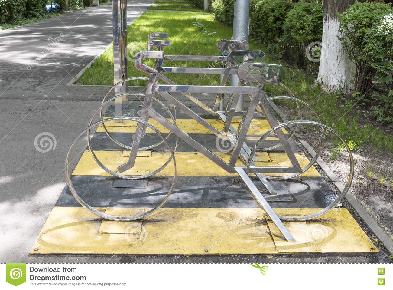 Layouts Bicycle In The Parking Lot Stock Photo Image 73471263. Parking Layouts
