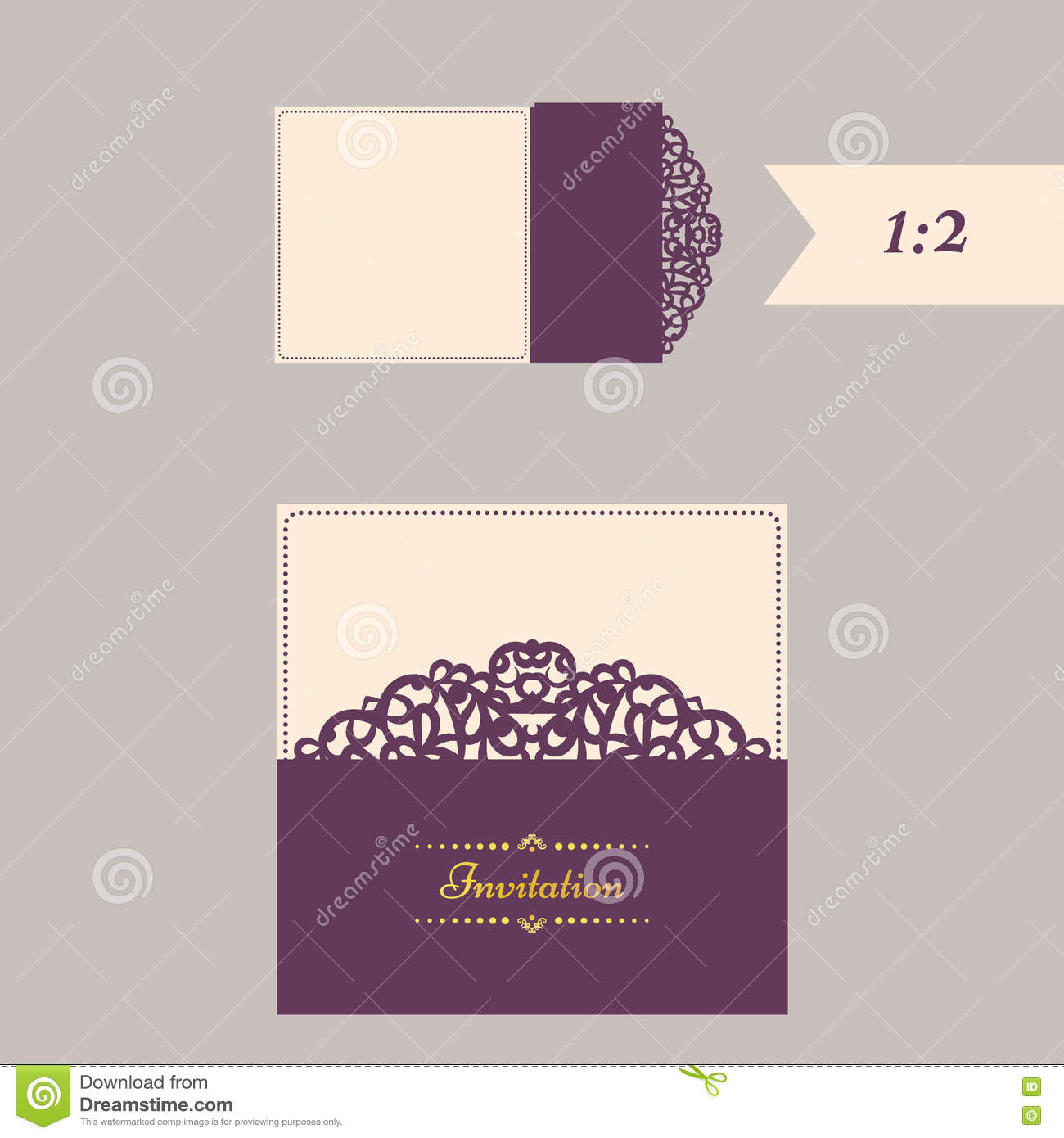 lazercut vector wedding invitation template wedding invitation