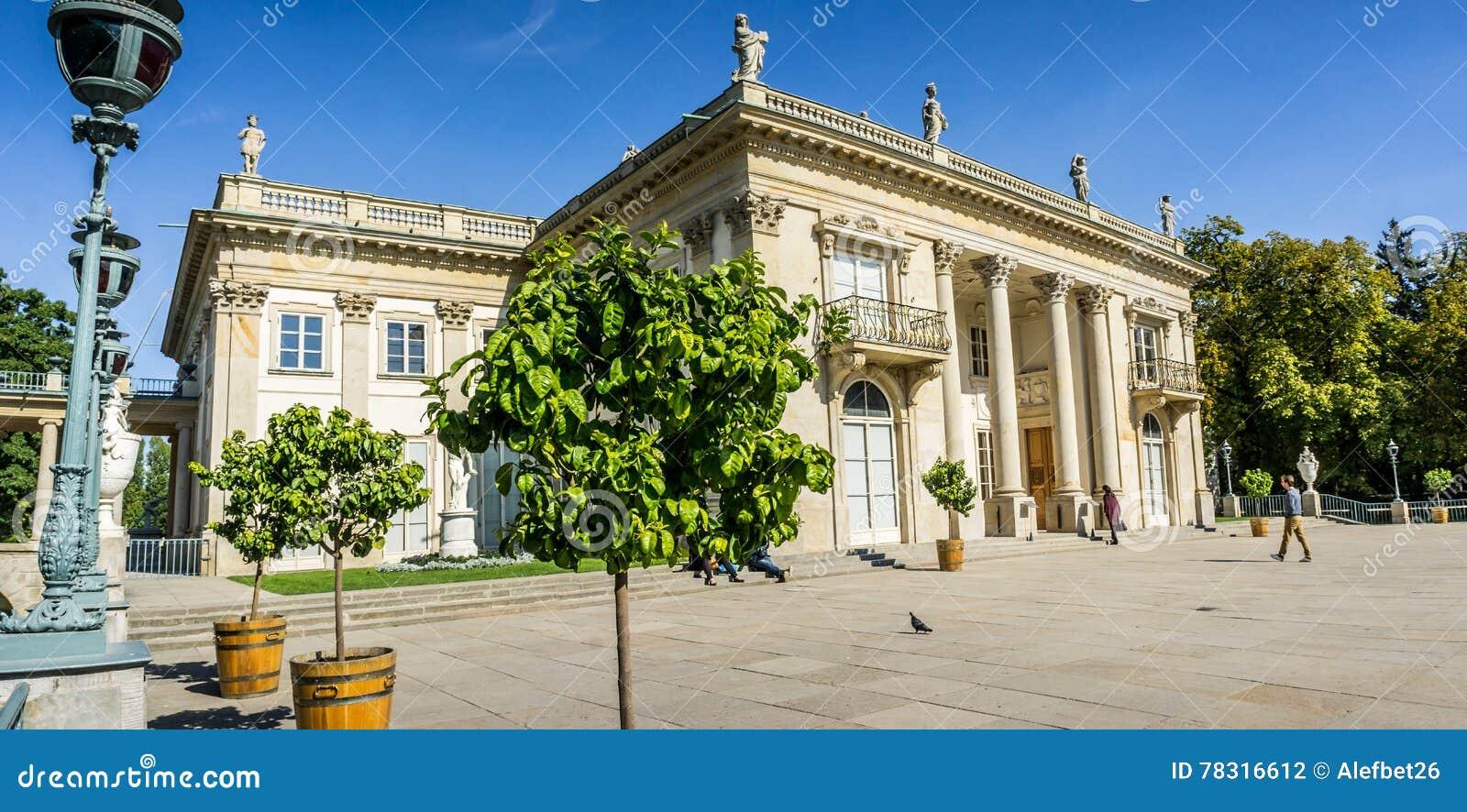 Lazienki Palast Lazienki Park In Warschau Polen Südliche Fassade