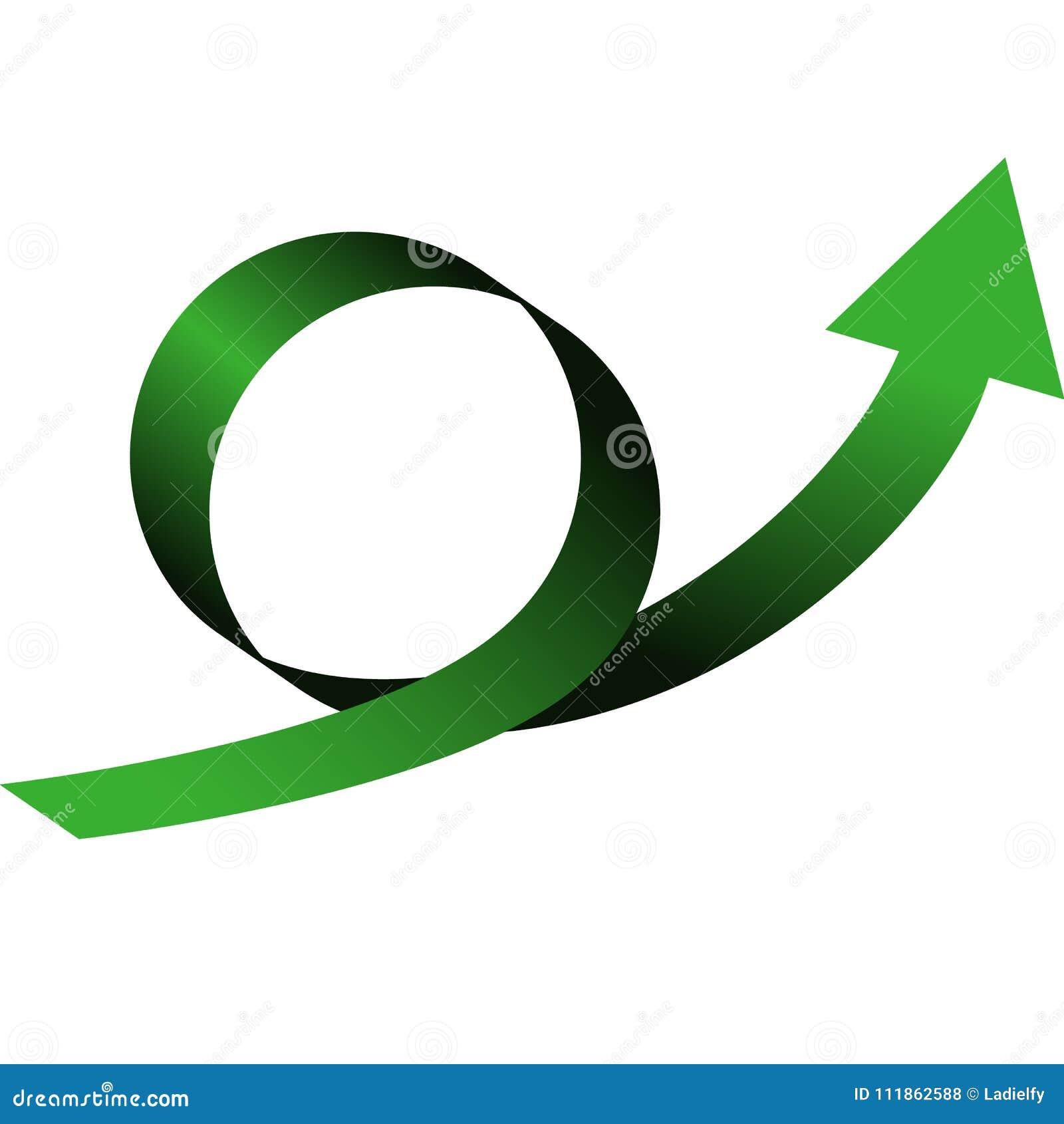 Lazo de la flecha del color con la dirección para arriba