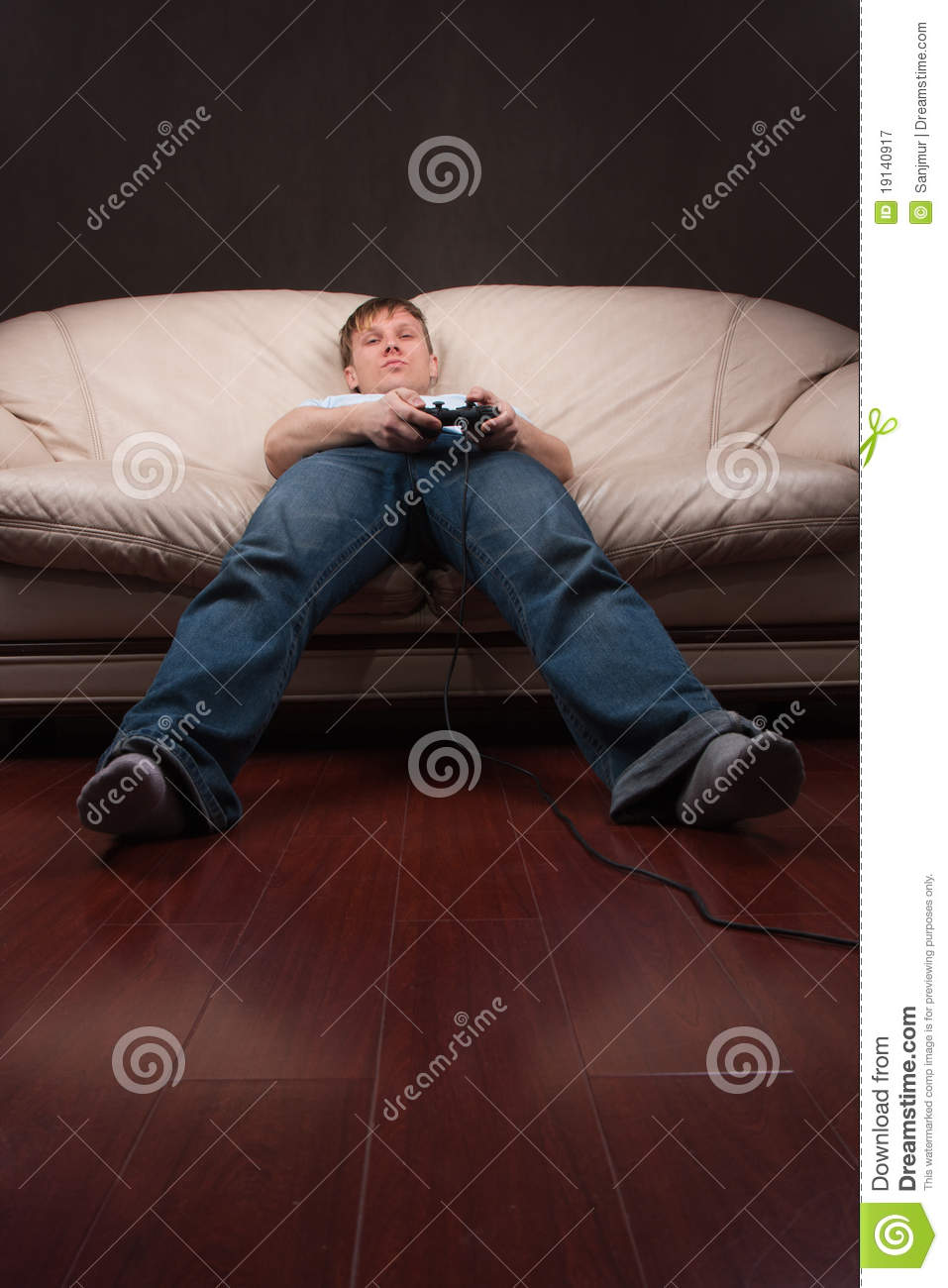 lazy gamer royalty free stock photography