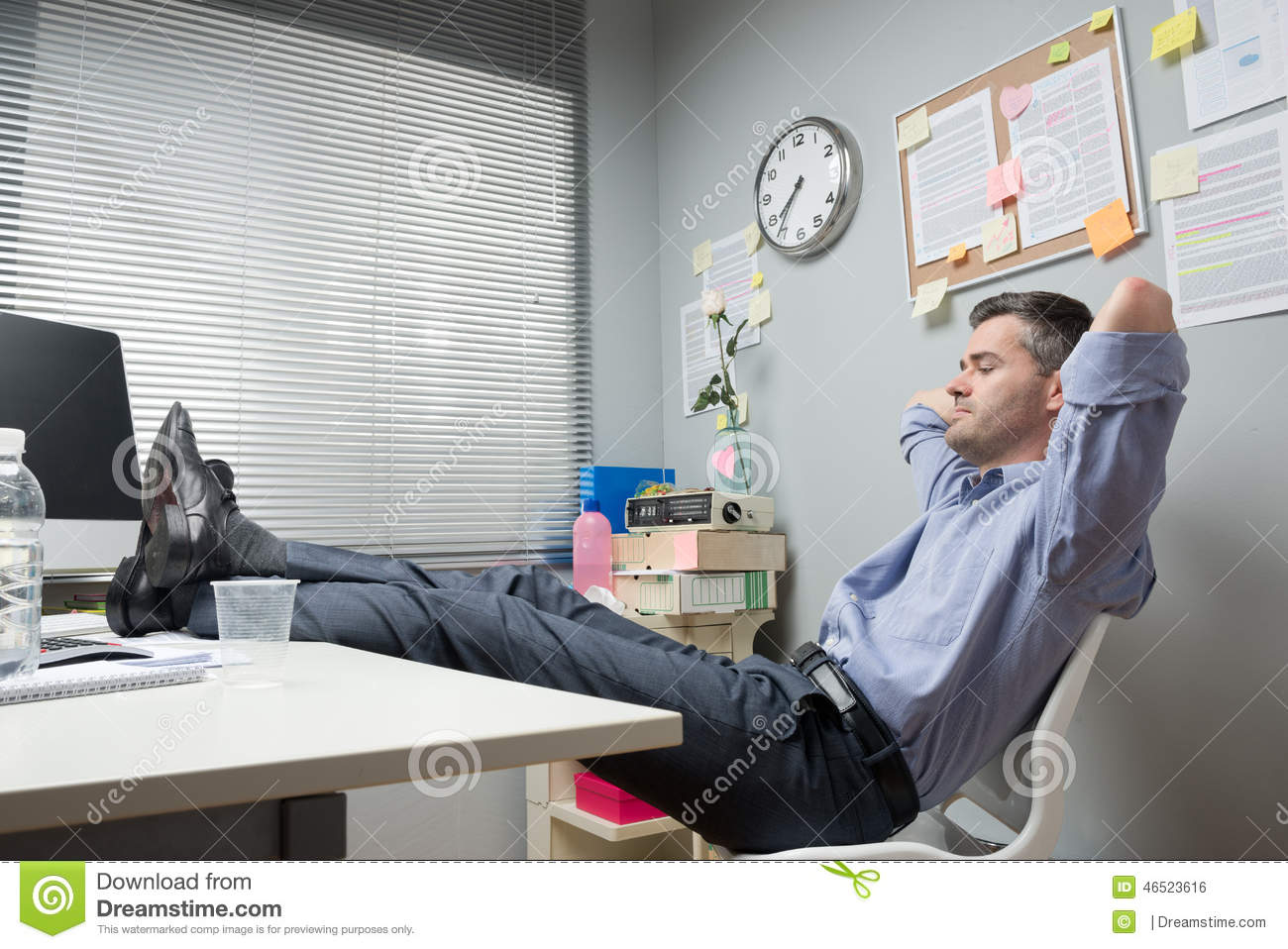 Lazy Office Worker Feet Up Stock Photo - Image: 46523616 Relaxing Dog Music