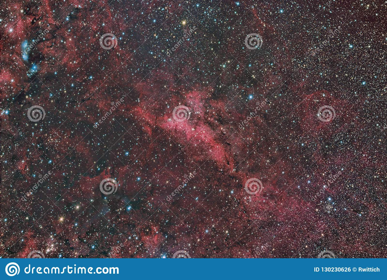LBN 251 emission and reflection nebula in the constellation Cygnus