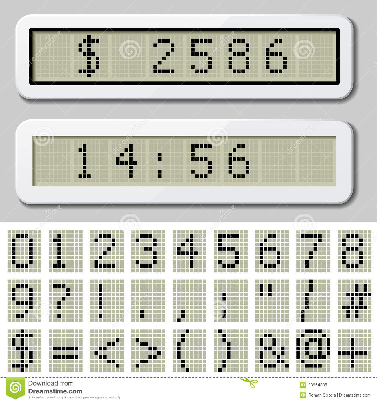 Number Symbol Characters Stock