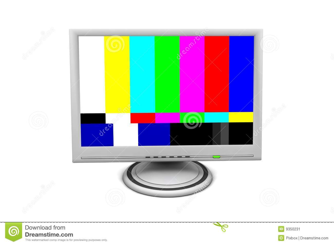 Lcd Flatscreen Monitor Test Pattern Photos - Free & Royalty-Free