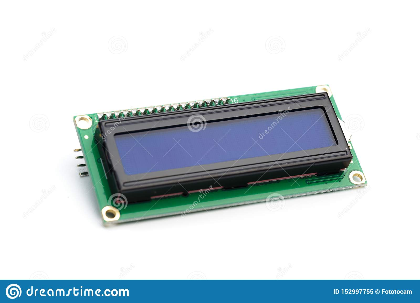 LCD indicator isolated on white background