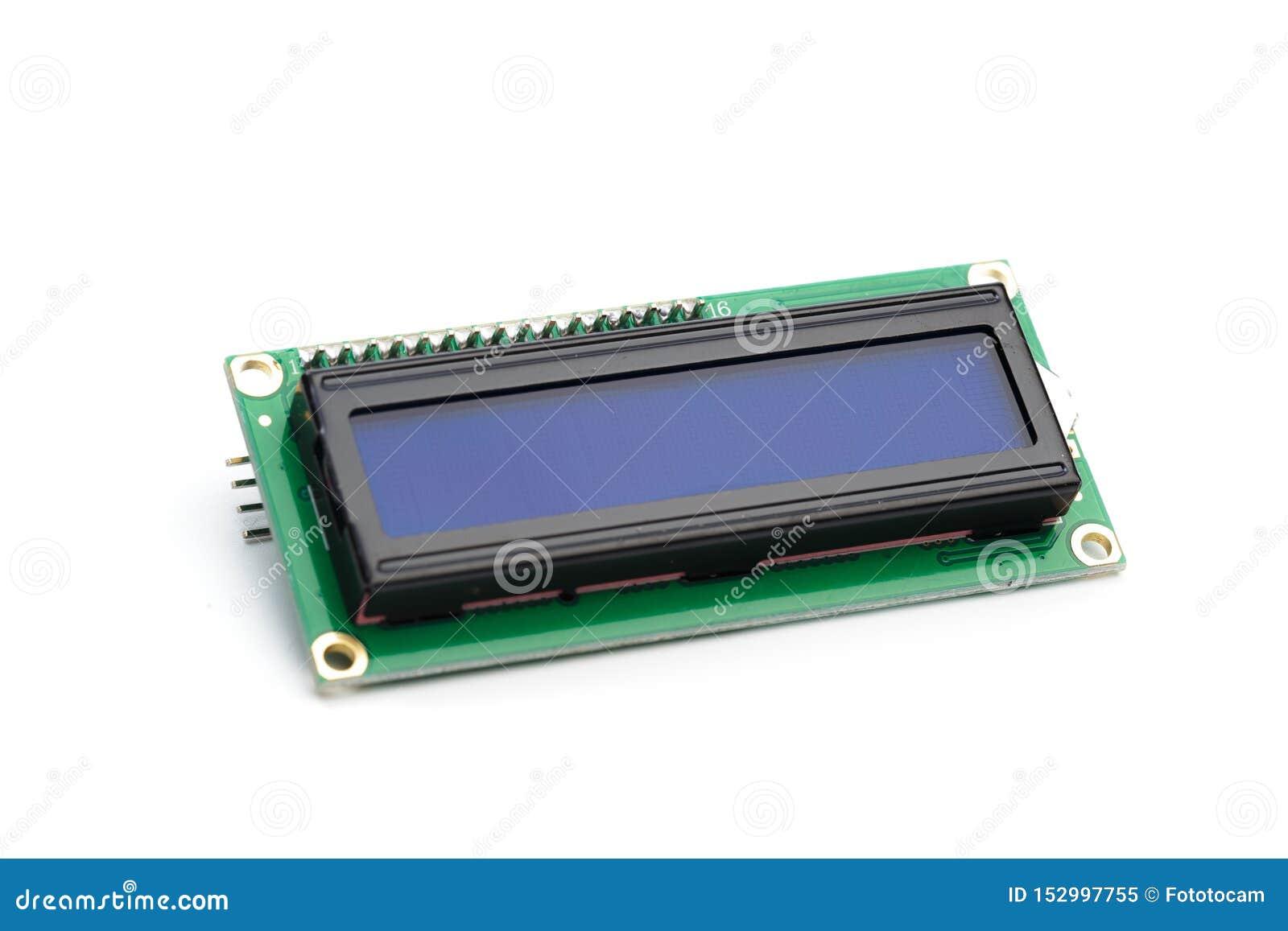 LCD indicator op witte achtergrond wordt geïsoleerd die