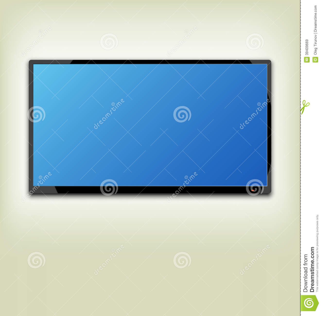 Lcd tv on a wall royalty free stock images   image: 6535369