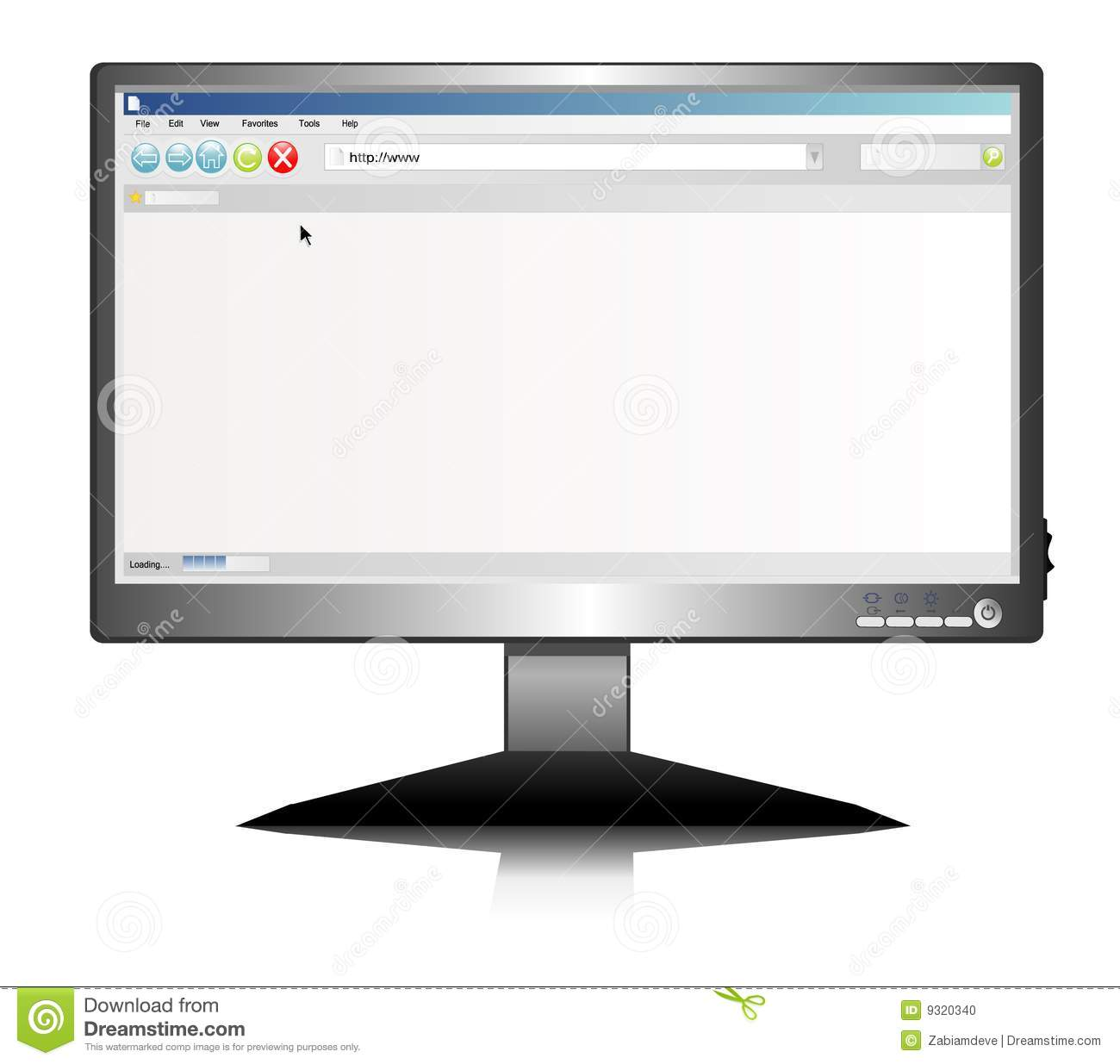 Lcd screen with Internet browser