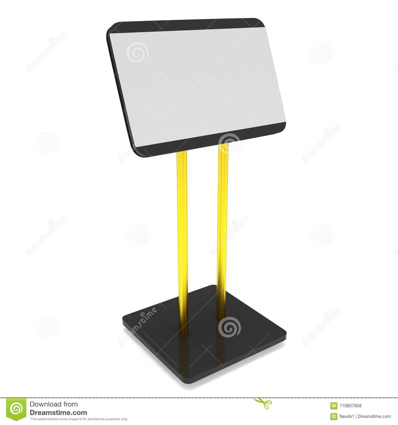 Trade Show Booth Lcd Screen Stand Stock Illustration Illustration
