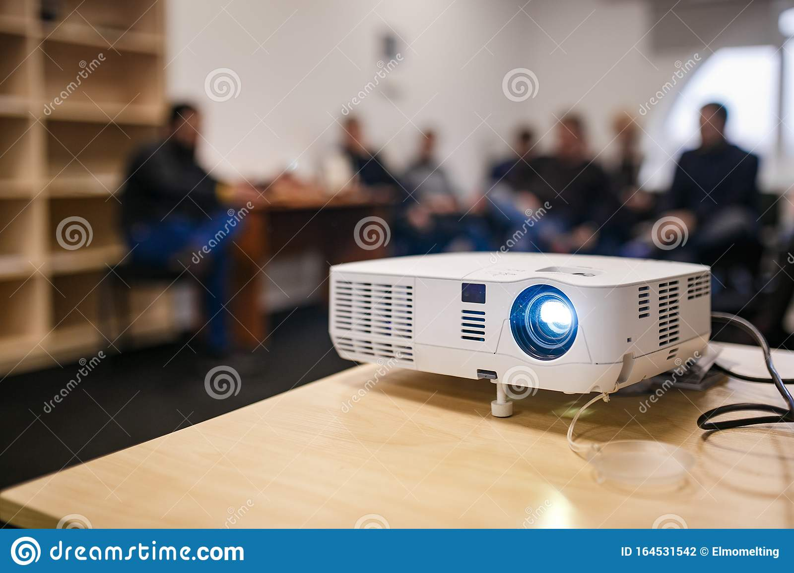 Lcd Video Projector At Business Conference Or Lecture In A