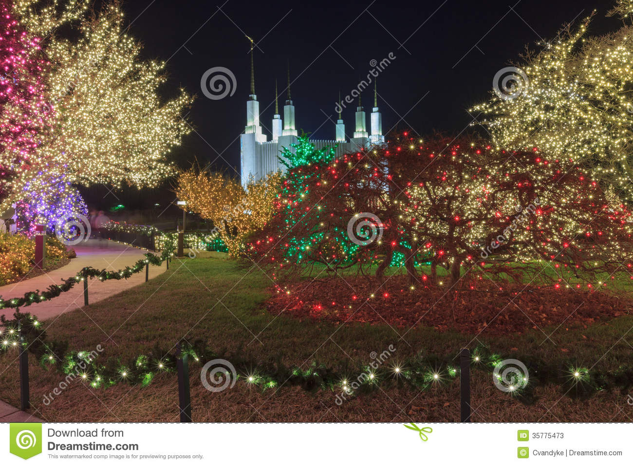 Lds Temple Festival Of Lights Stock Photos Image 35775473