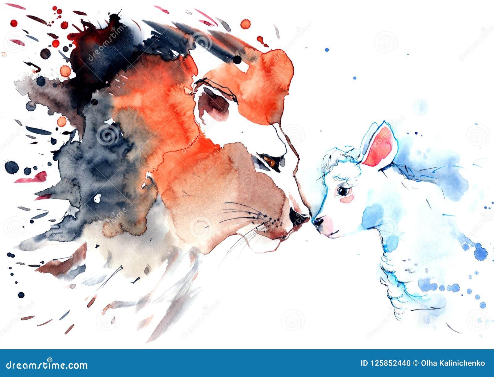 Leao E Cordeiro Ilustracao Stock Ilustracao De Fundo 125852440
