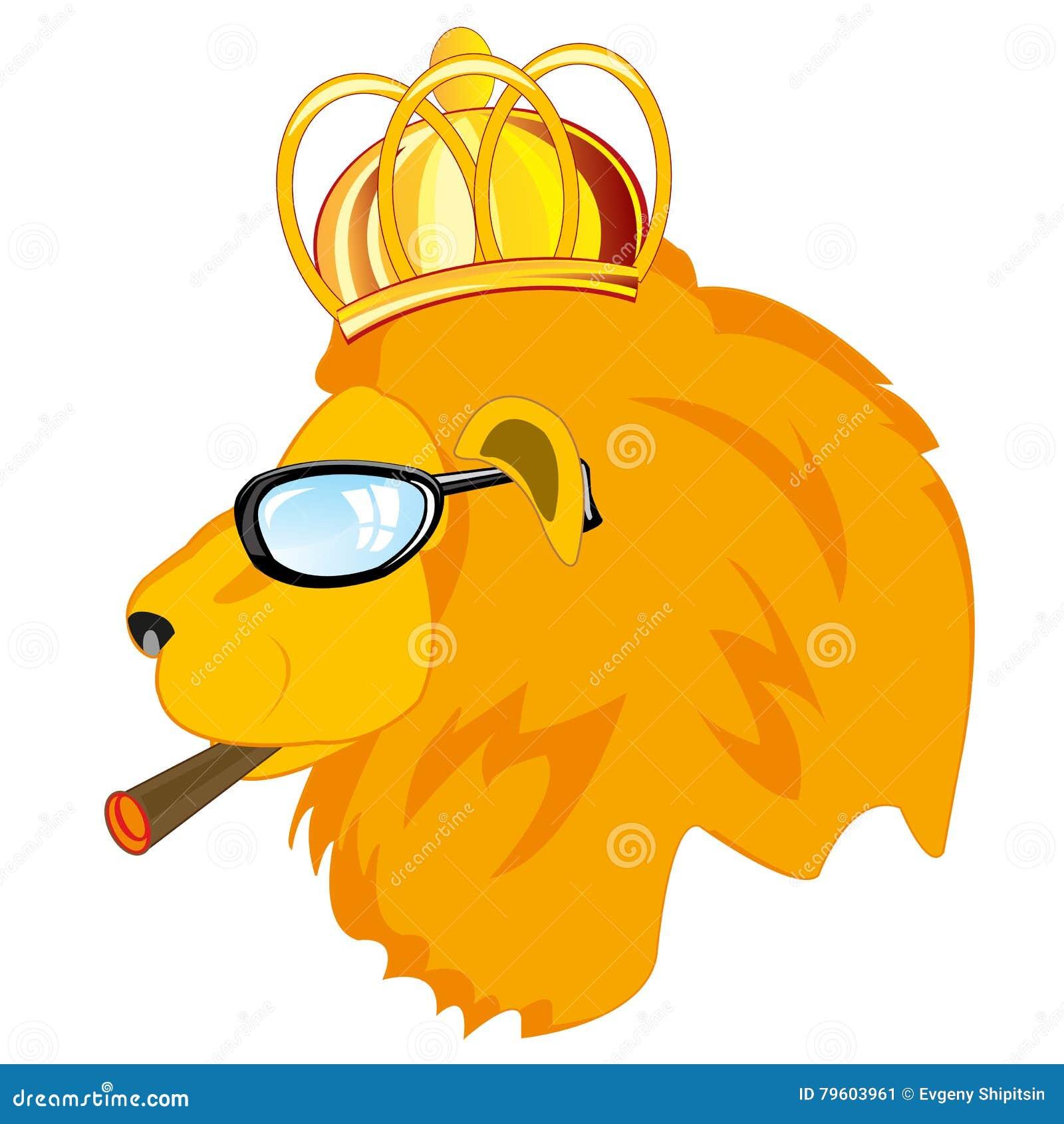 Leão na corona e nos espetáculos