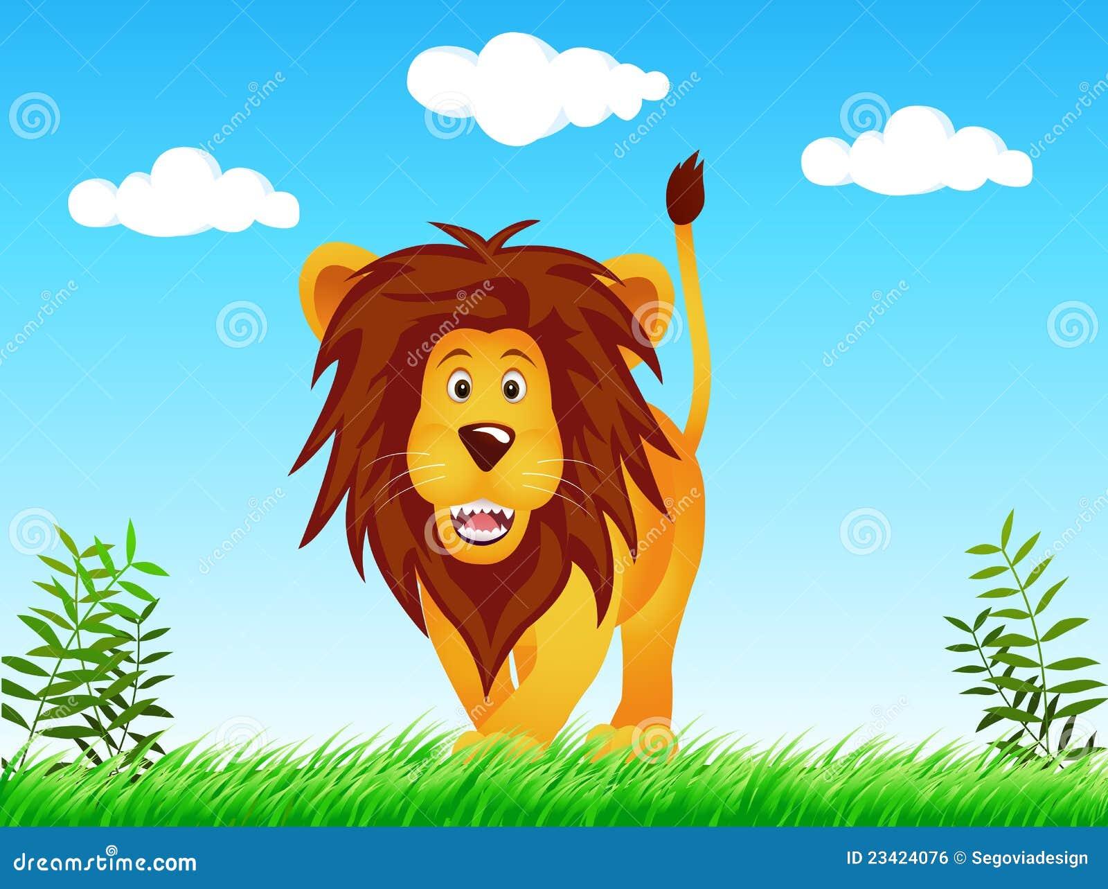 Leão no selvagem