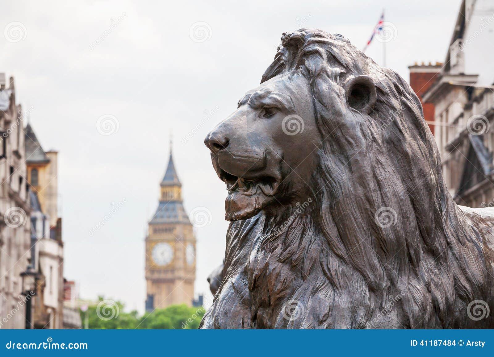 León en Trafalgar Square Londres, Inglaterra