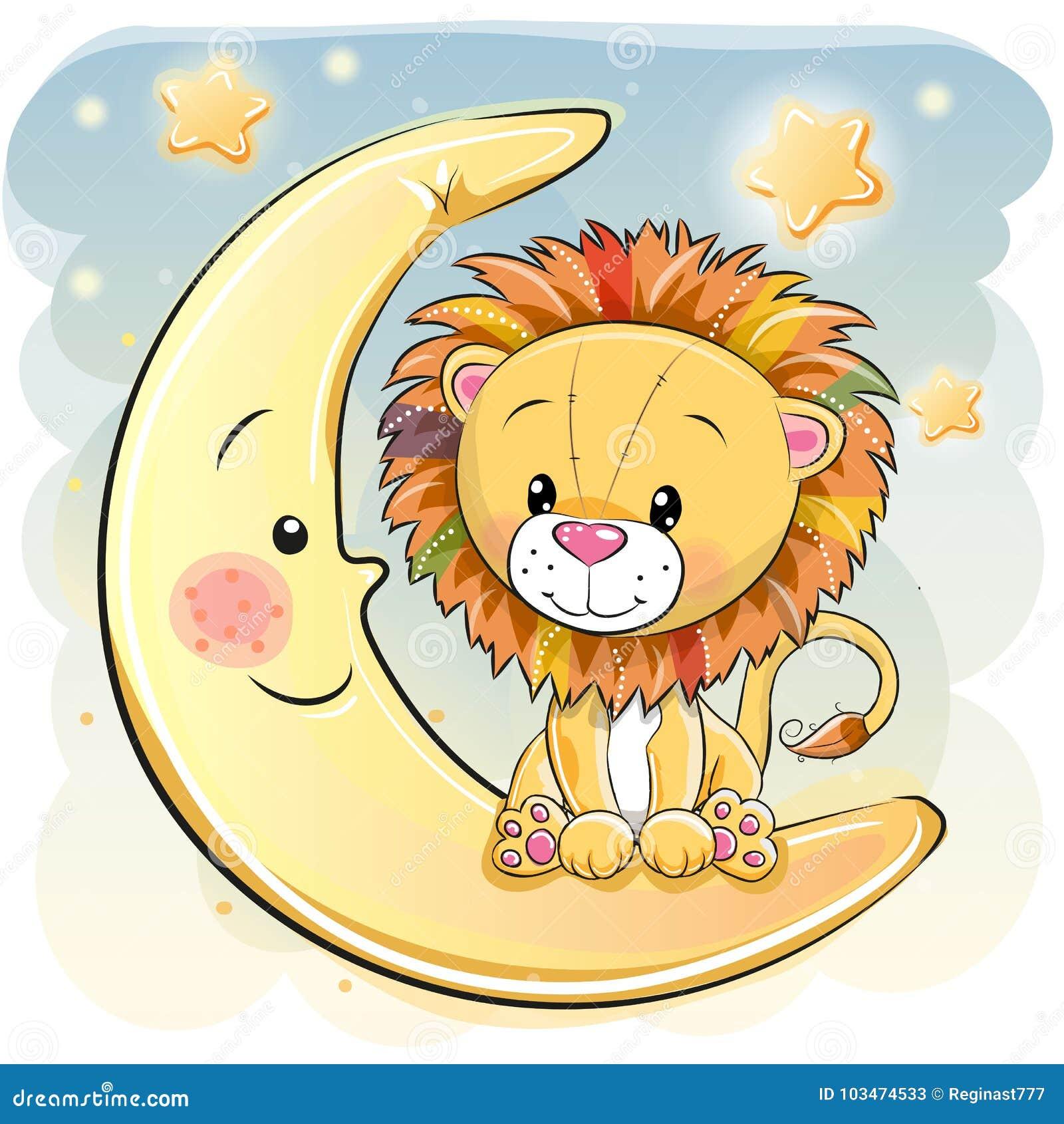 León lindo de la historieta en la luna