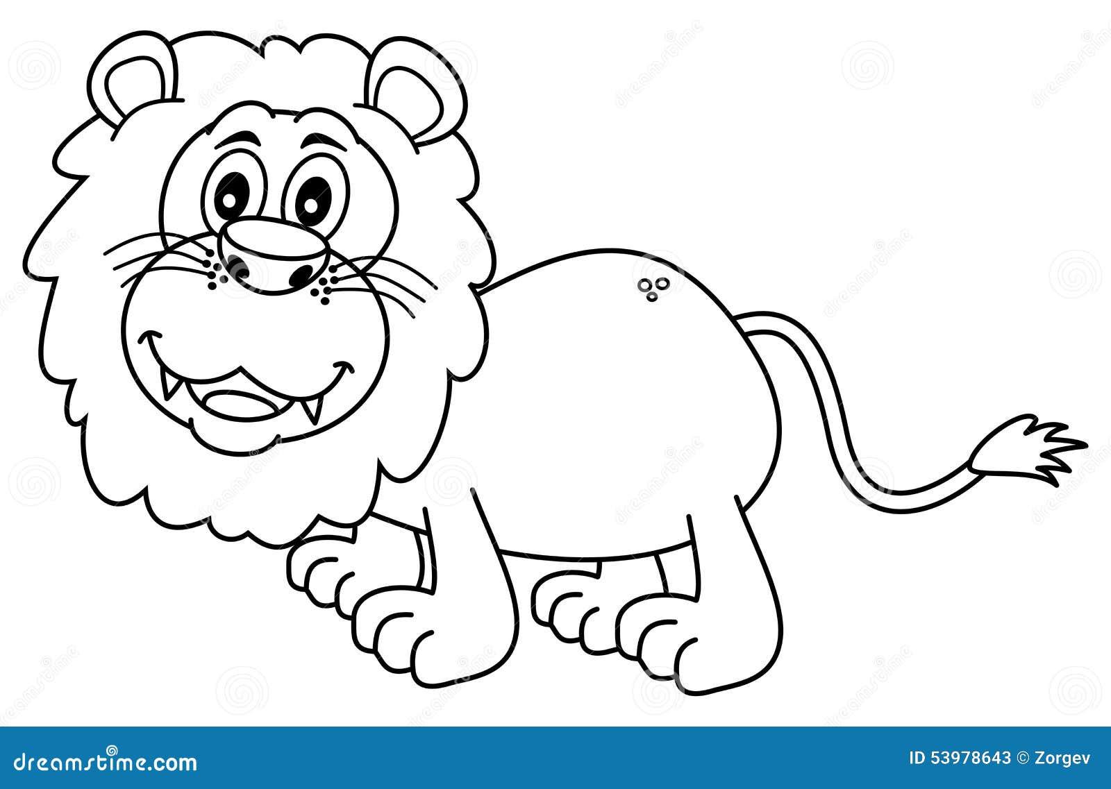 León para colorear stock de ilustración. Ilustración de mamífero ...