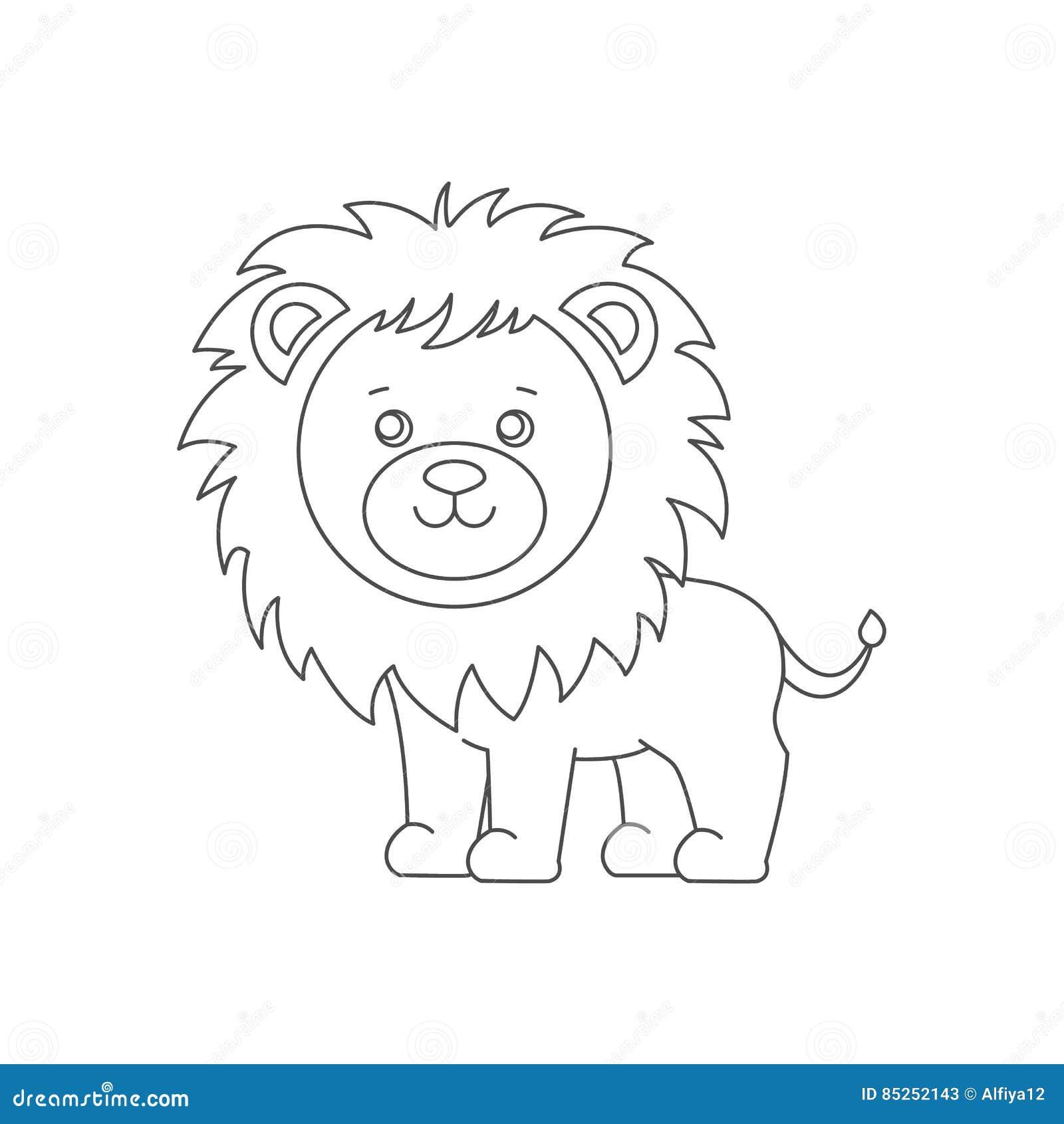 León Para El Libro De Colorear Ilustración Del Vector Ilustración