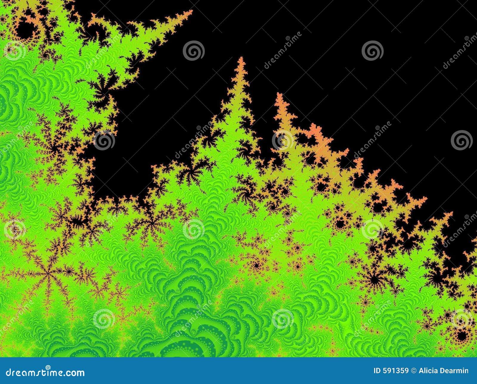 Leśny fractal pożarowym