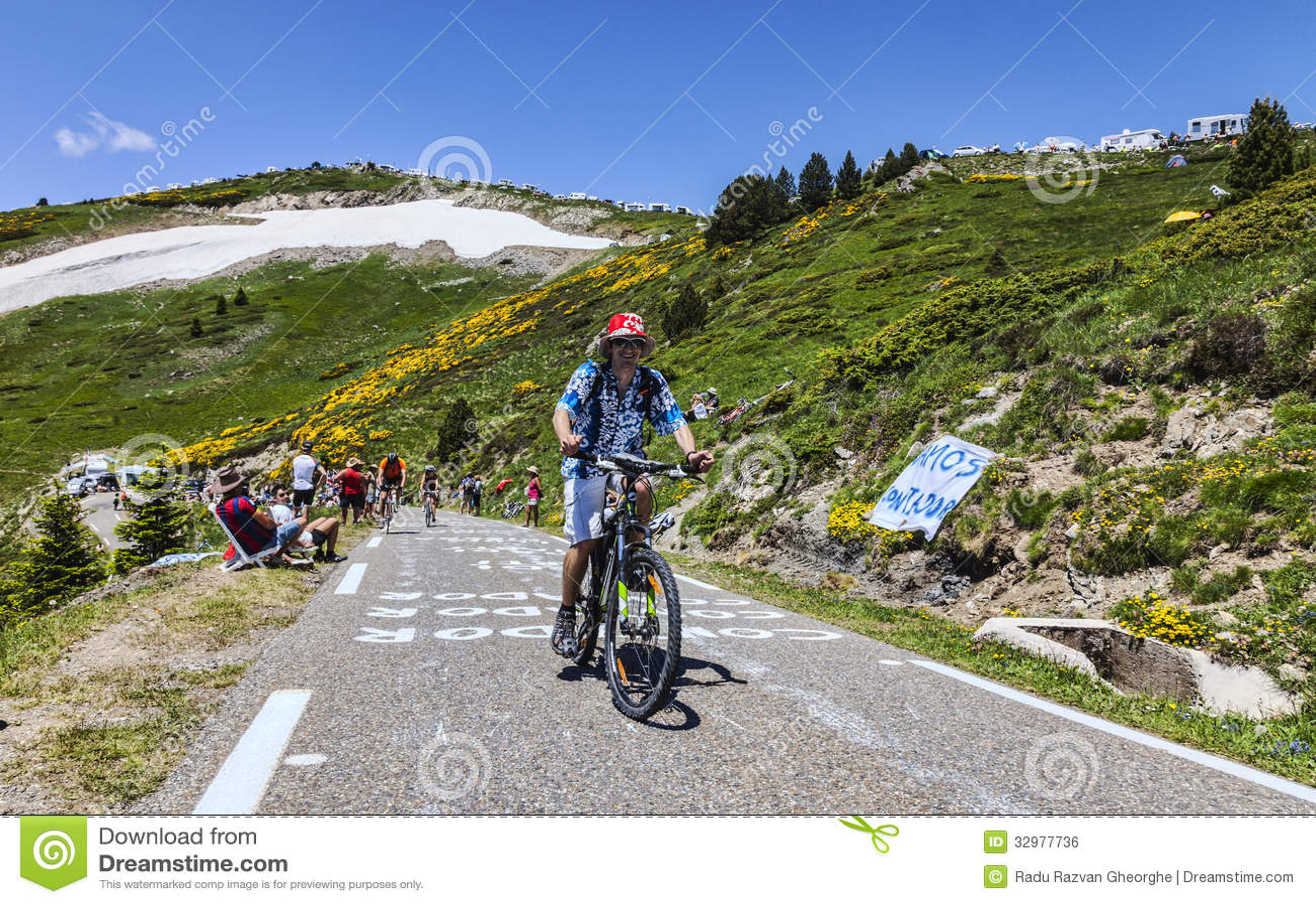 Le环法自行车赛爱好者