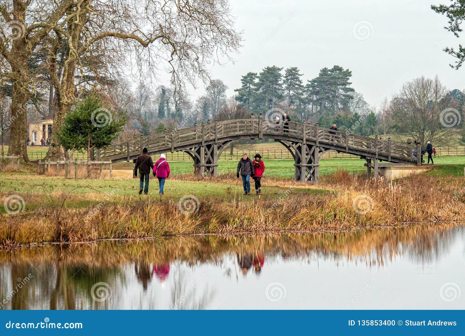 """Le """"pont du Chinois au parc de Croome, Worcestershire, Angleterre"""