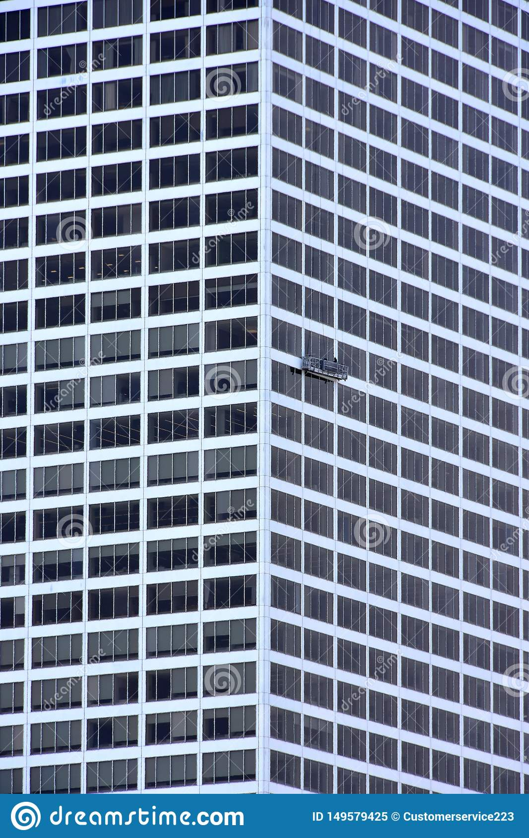 Le bâtiment de Milwaukee ayant Windows a lavé