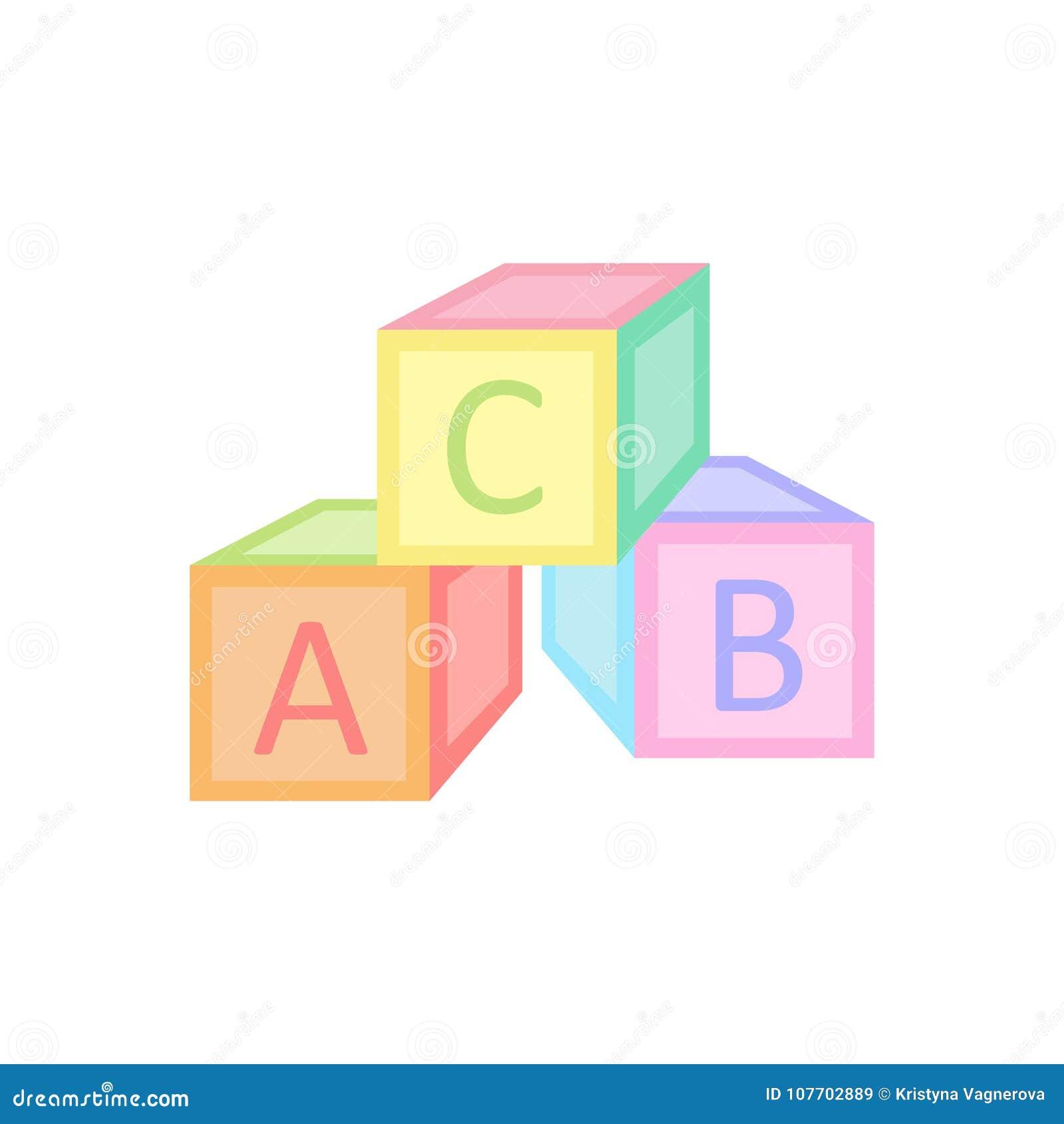 Le bébé cube le graphique d illustration de vecteur de jouet