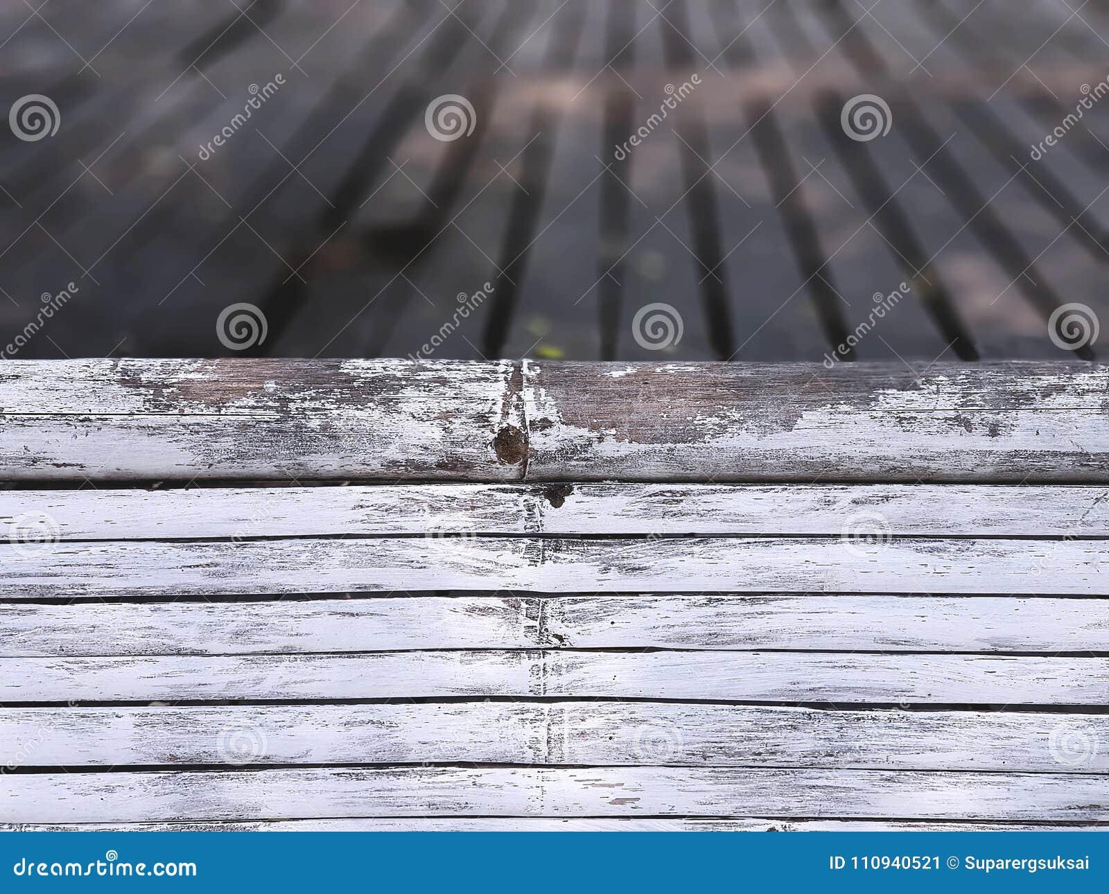 Le bambou blanc de plein cadre colle le plancher d Around Wooden Planks de barrière