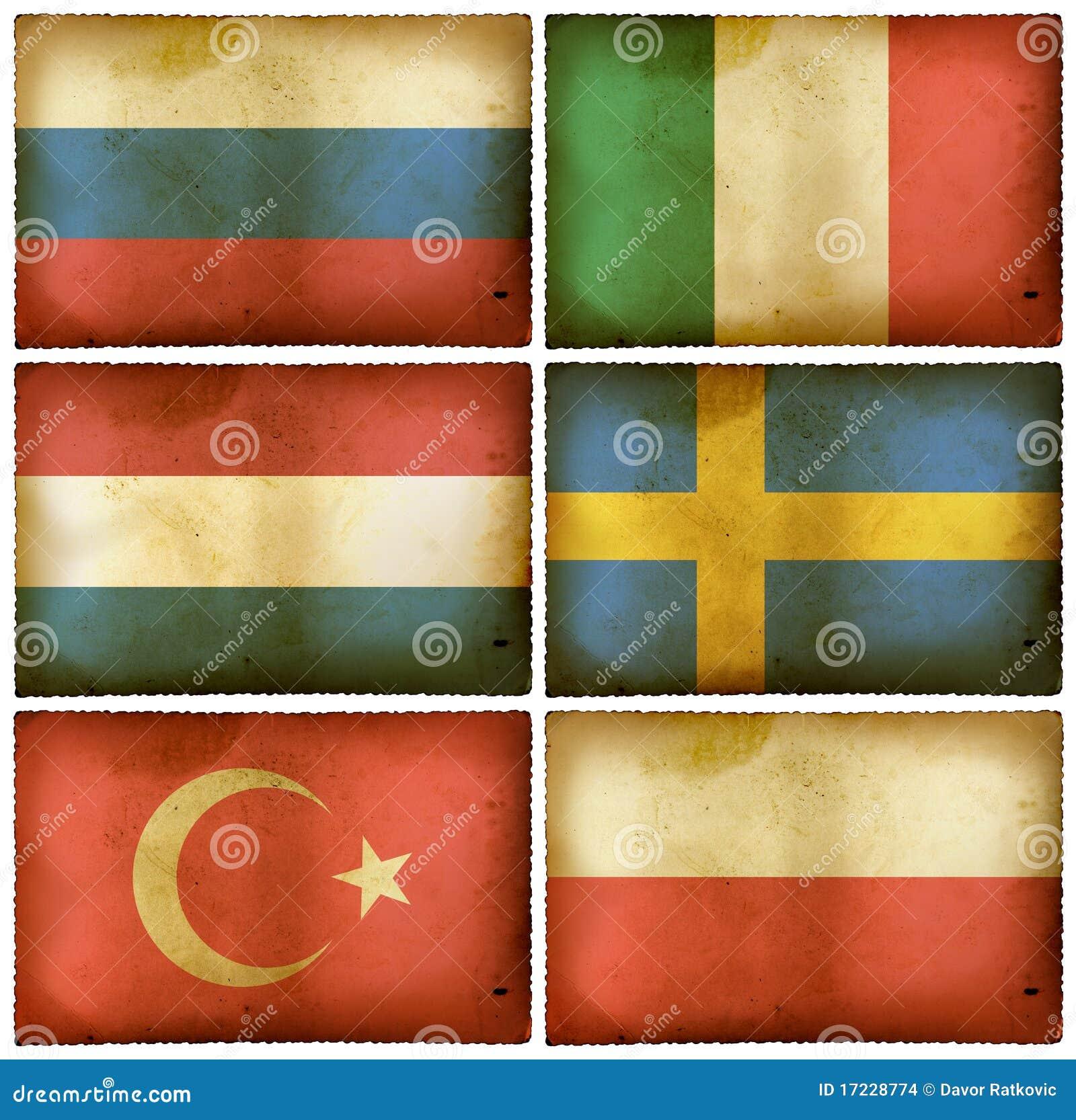 Le bandierine dell annata hanno impostato Europa due