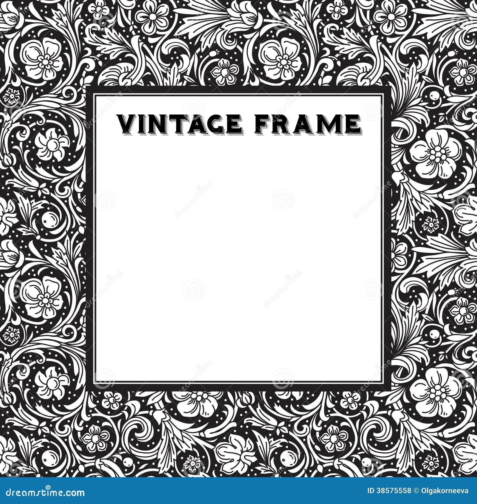 le baroque noir et blanc de cadre de vecteur photos libres de droits image 38575558. Black Bedroom Furniture Sets. Home Design Ideas