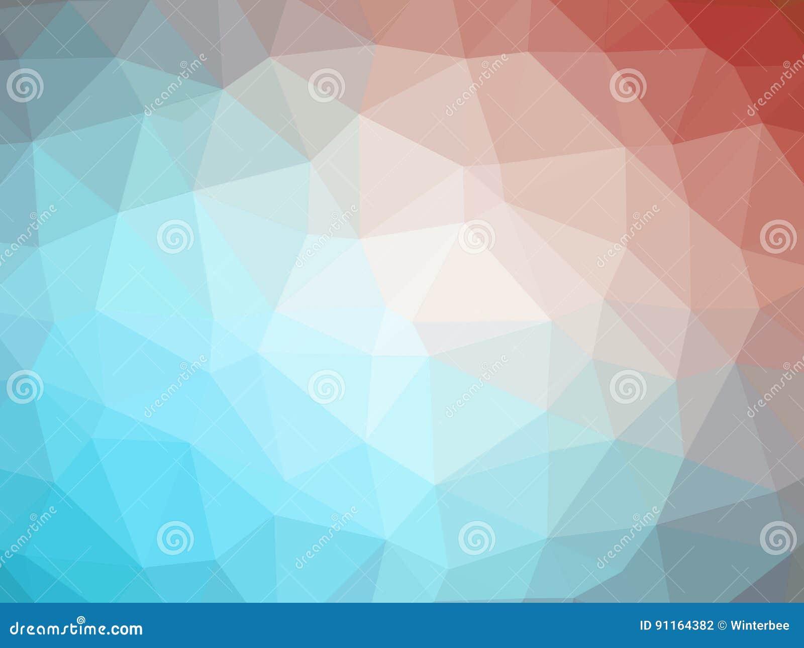 Le Bas Polygone De Gradient Bleu Rouge Abstrait A Formé Le Fond