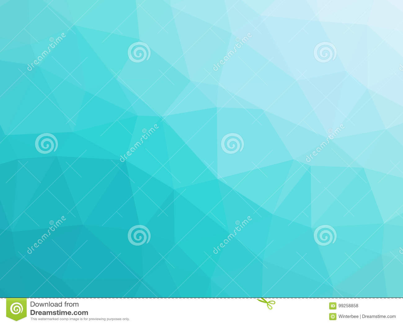 Le Bas Polygone De Turquoise De Gradient Abstrait De Bleu A Formé Le