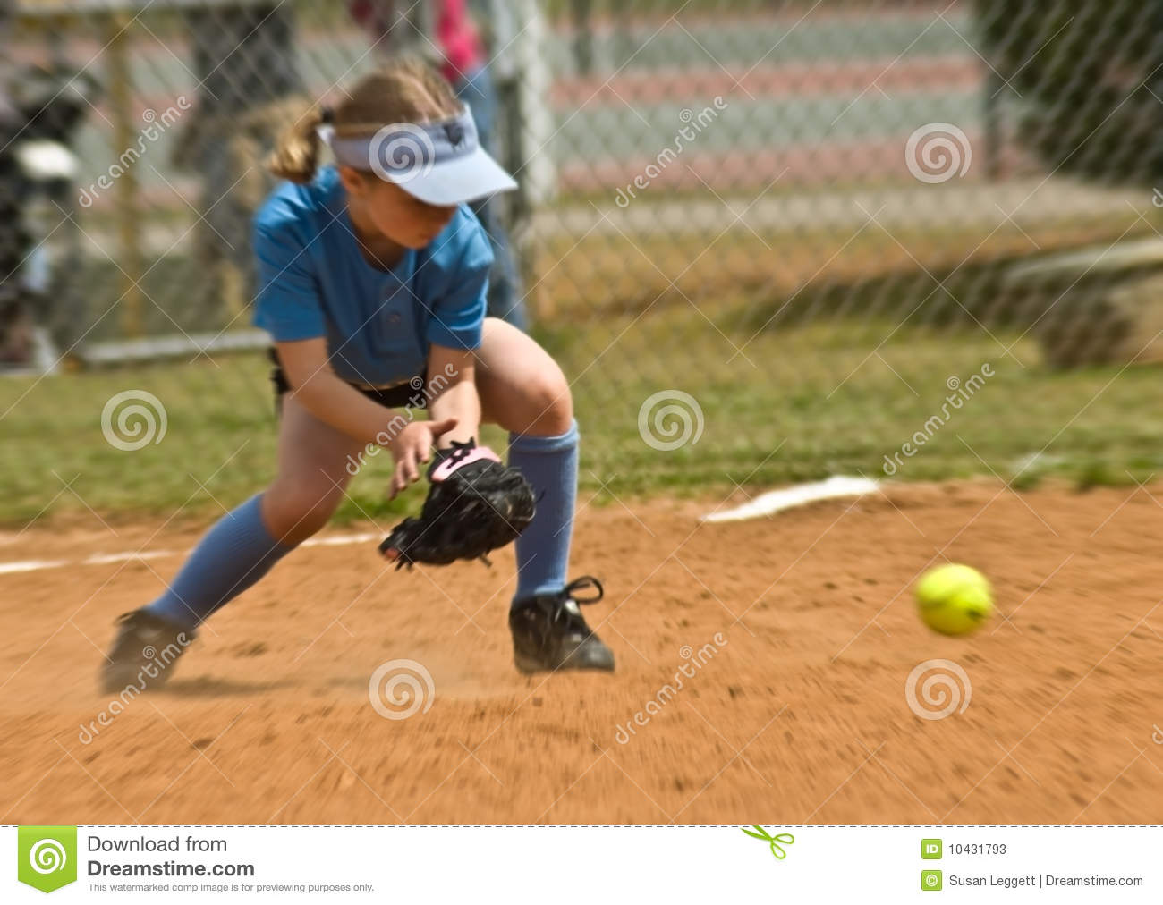 Le base-ball de la fille