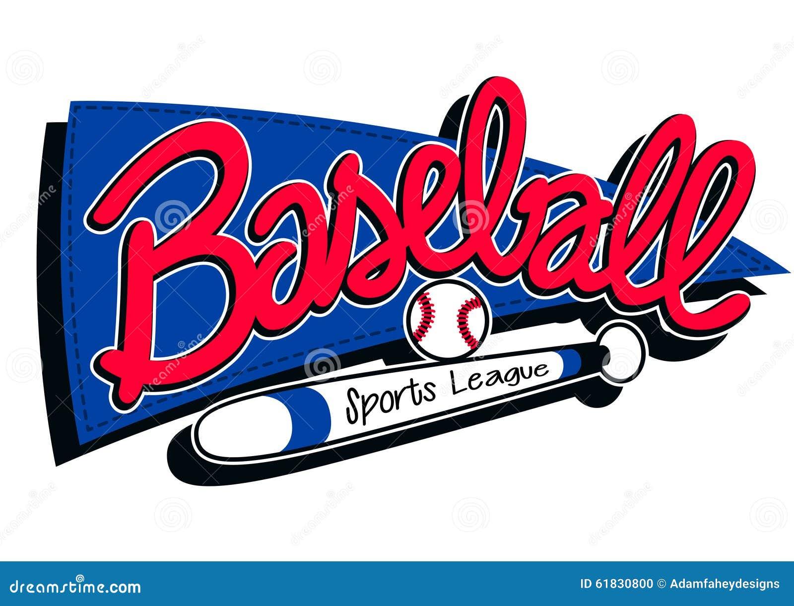 Le base-ball folâtre le fond de la bannière des enfants de ligue