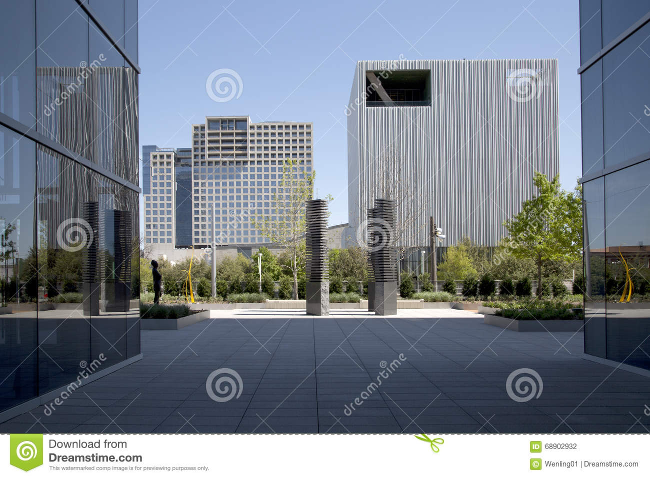 Le Beau Centre Ville De La Ville Dallas Photo stock
