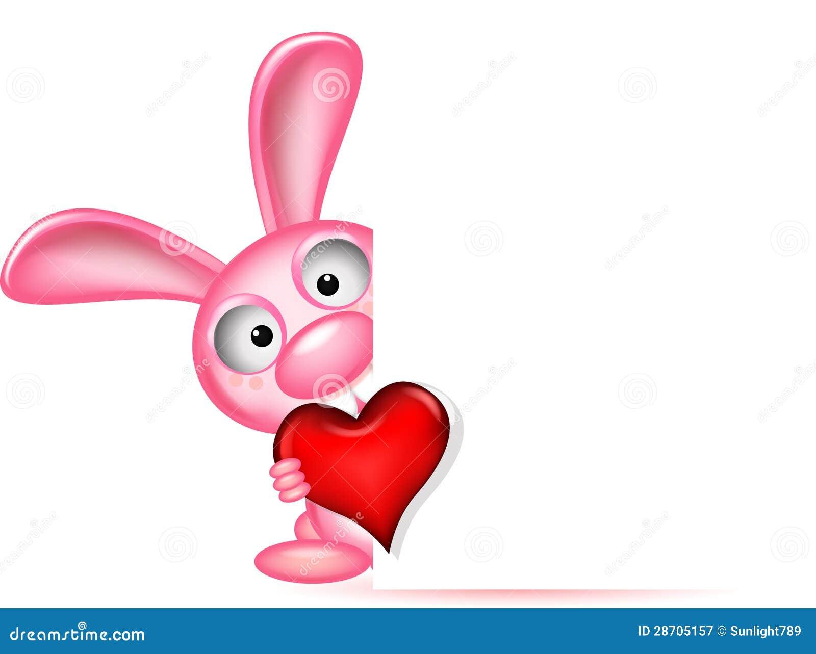 Le beau lapin retient le coeur d 39 amour photographie stock libre de droits image 28705157 - Ceour d amour ...