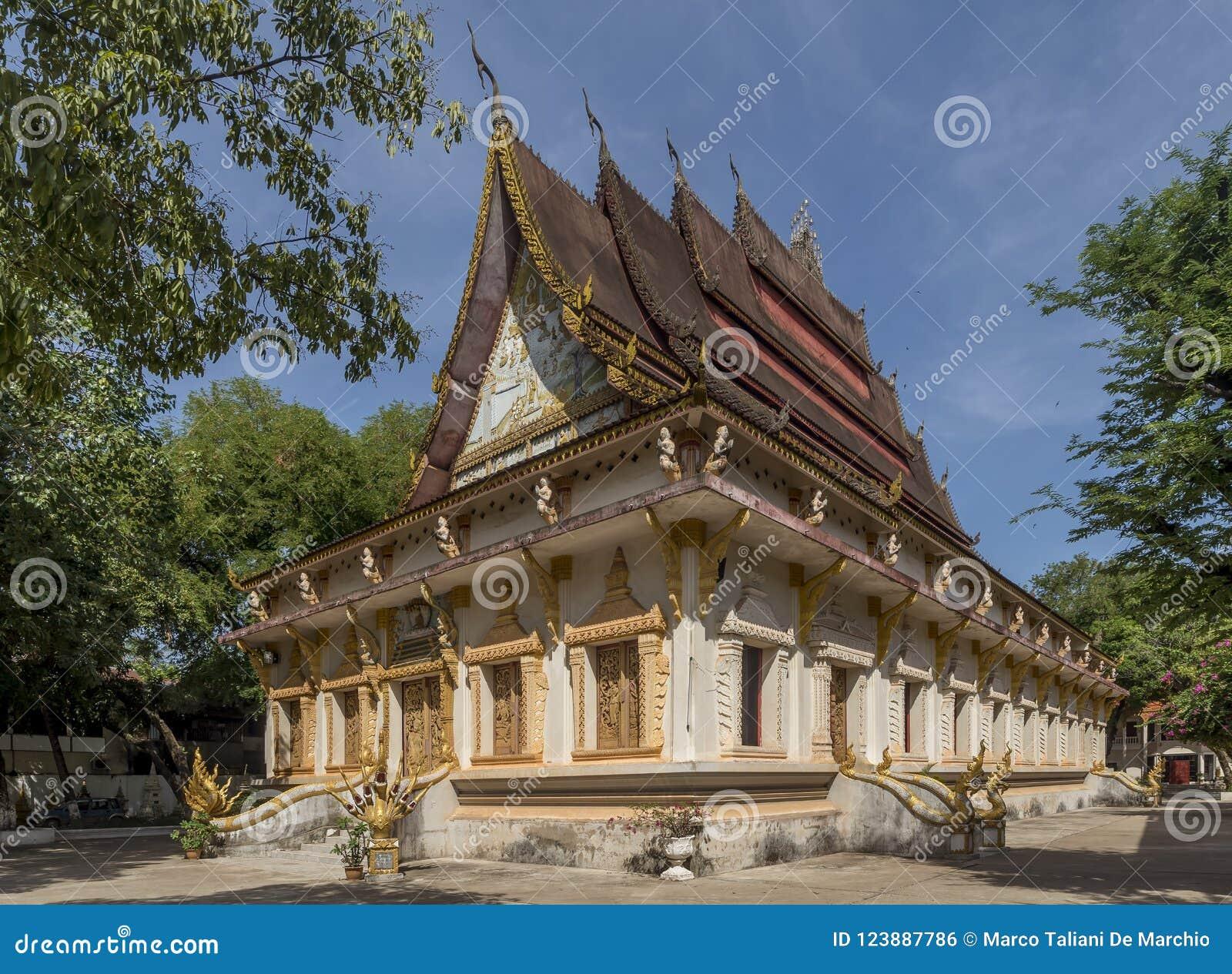 Le beau temple de Wat Haysoke à Vientiane, Laos