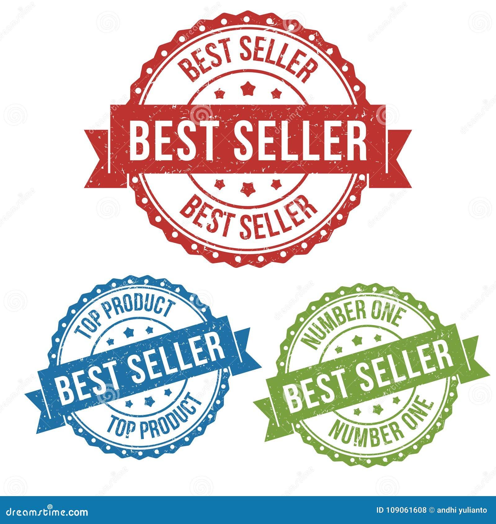 Le best-seller, le produit supérieur, étiquette de timbre de label d insigne de vecteur pour le produit, lançant sur le marché ve