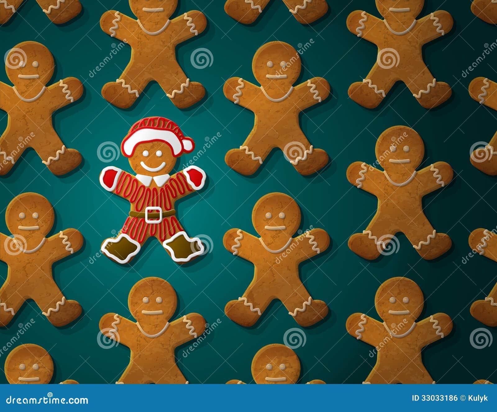 Le bonhomme en pain d épice est décoré dans le costume de Noël