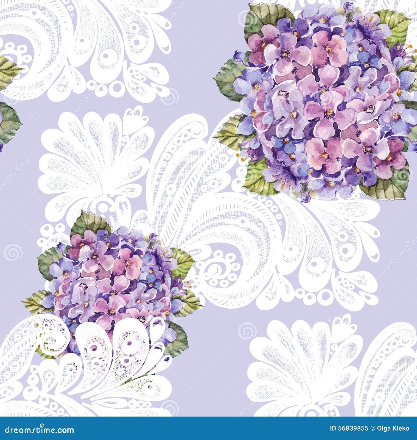 le bouquet d 39 hortensia d coration blanche aquarelle. Black Bedroom Furniture Sets. Home Design Ideas