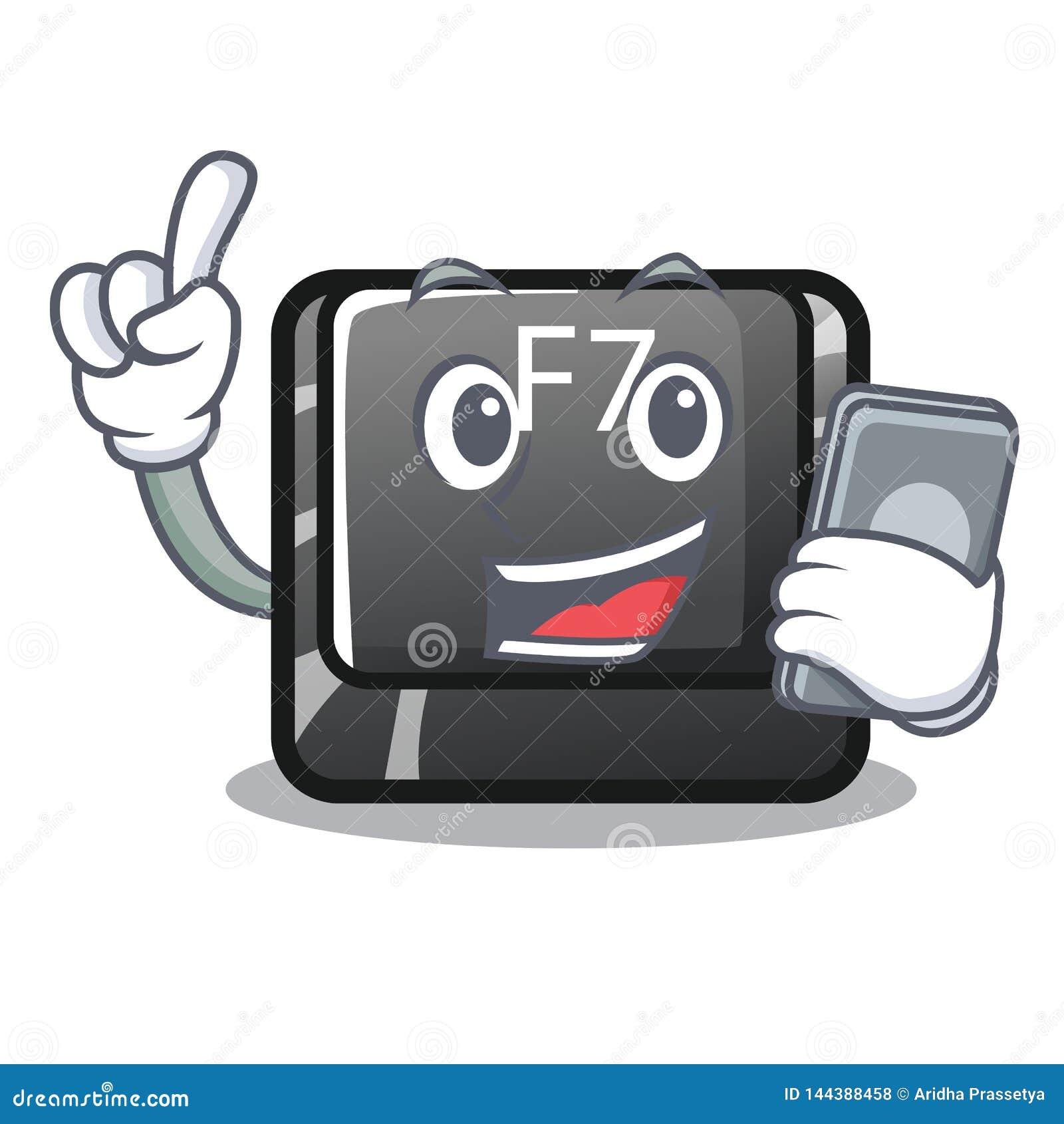 Le bouton du téléphone f7 étant installé sur le clavier de bande dessinée