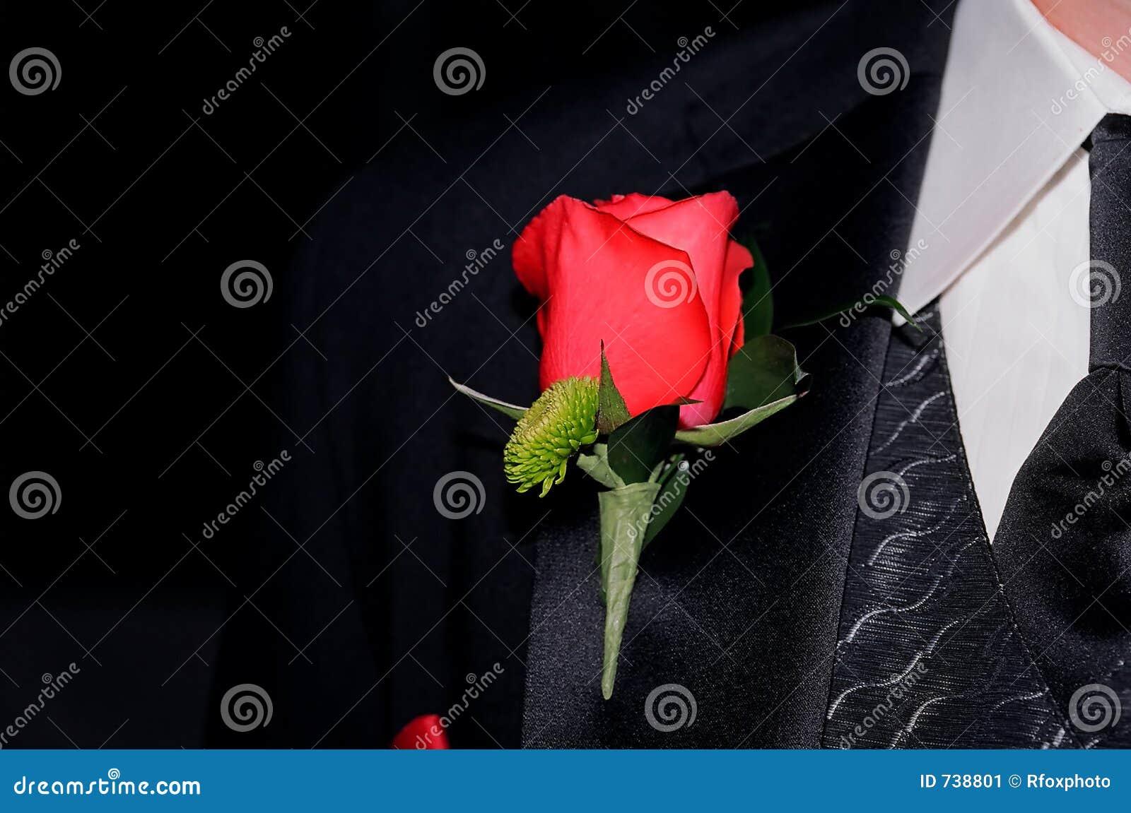 Le boutonnière du marié