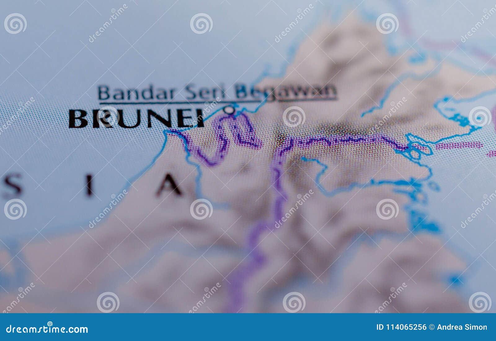 Le Brunei sur la carte