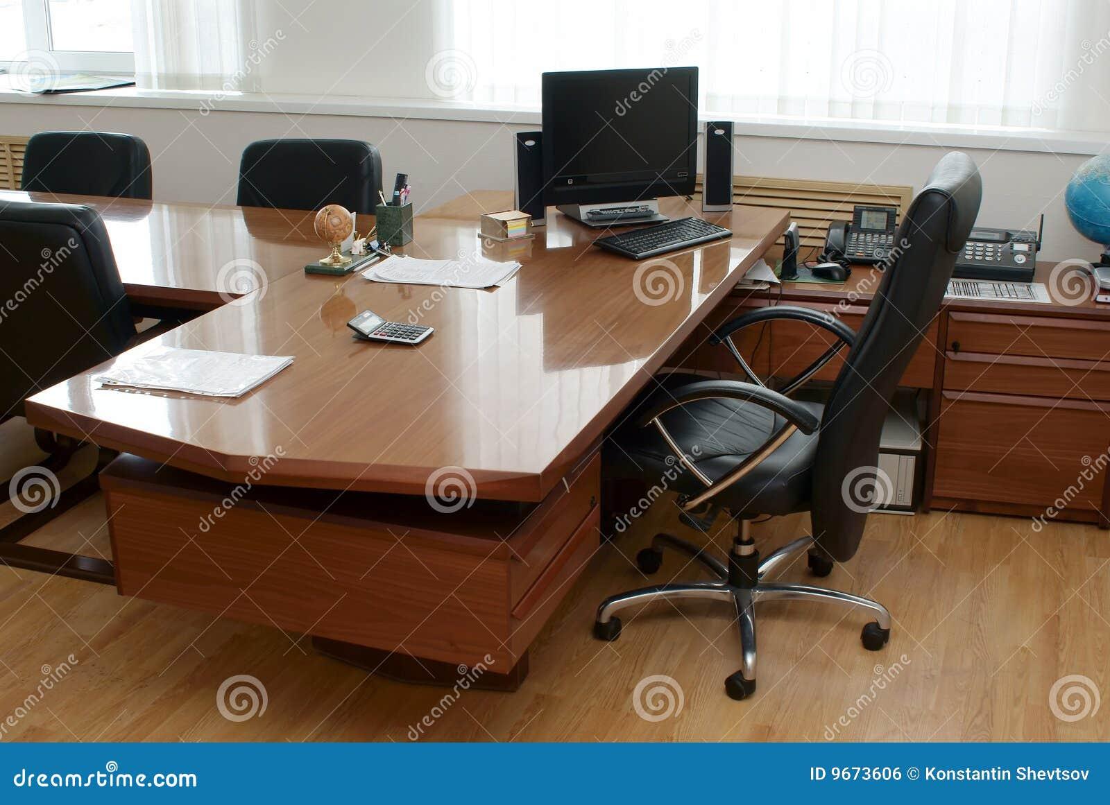 le bureau du directeur image libre de droits image 9673606. Black Bedroom Furniture Sets. Home Design Ideas