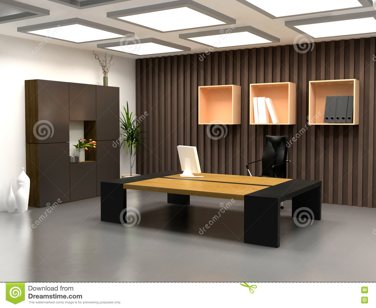 le bureau moderne image stock image du conception pr sidences 2263385. Black Bedroom Furniture Sets. Home Design Ideas