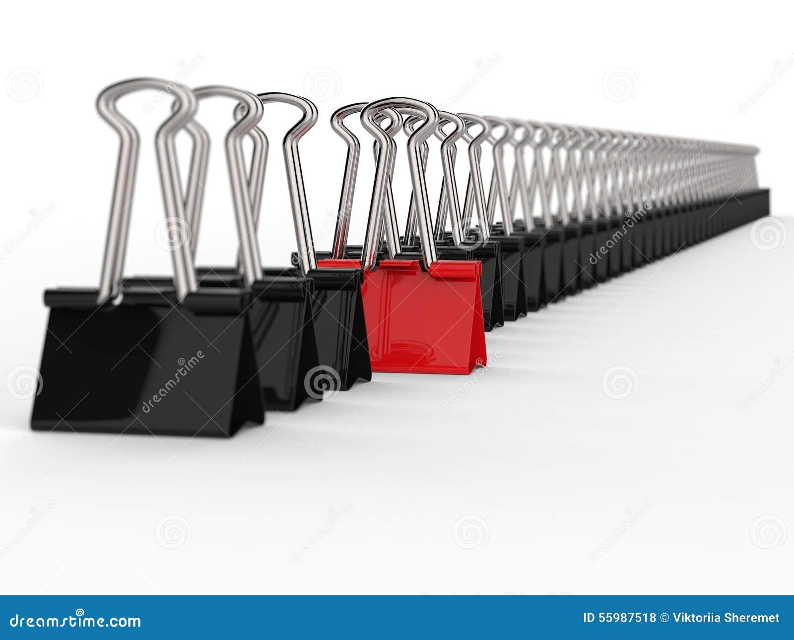 Le bureau noir et rouge coupe la rangée illustration stock