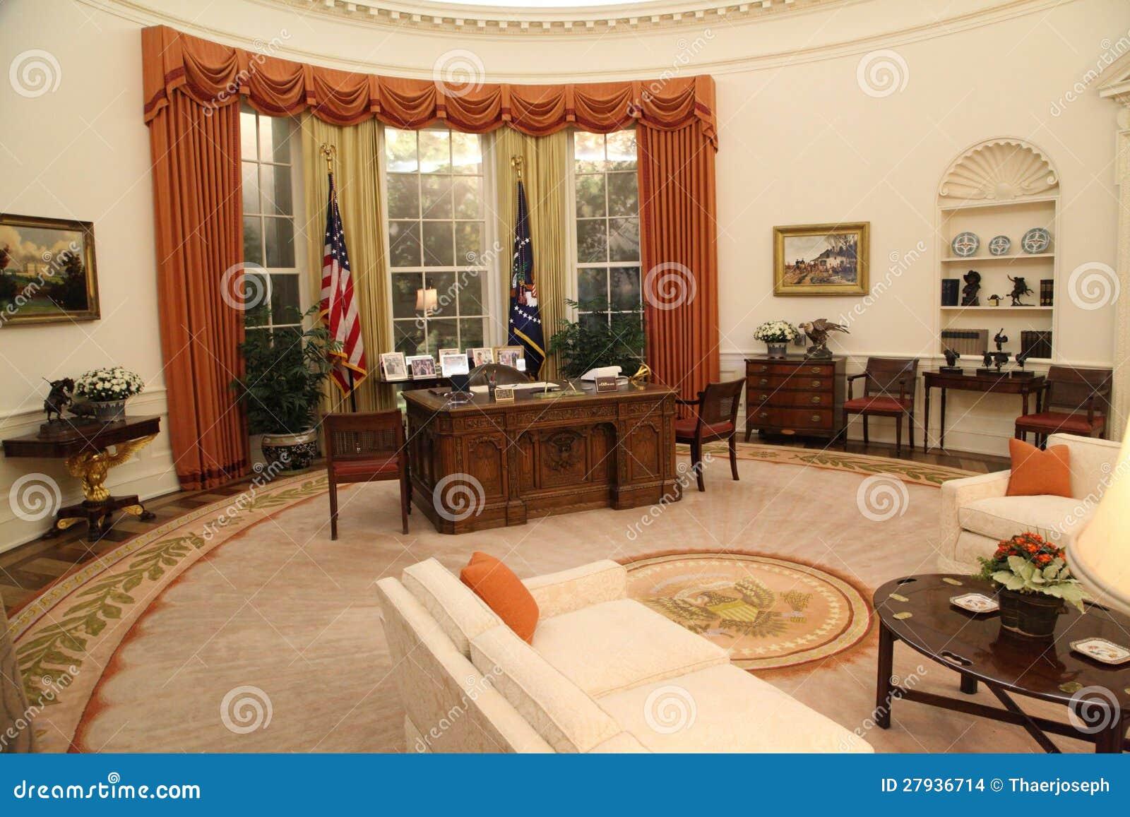 Bureau ovale photographie éditorial. image du fédéral 16342837