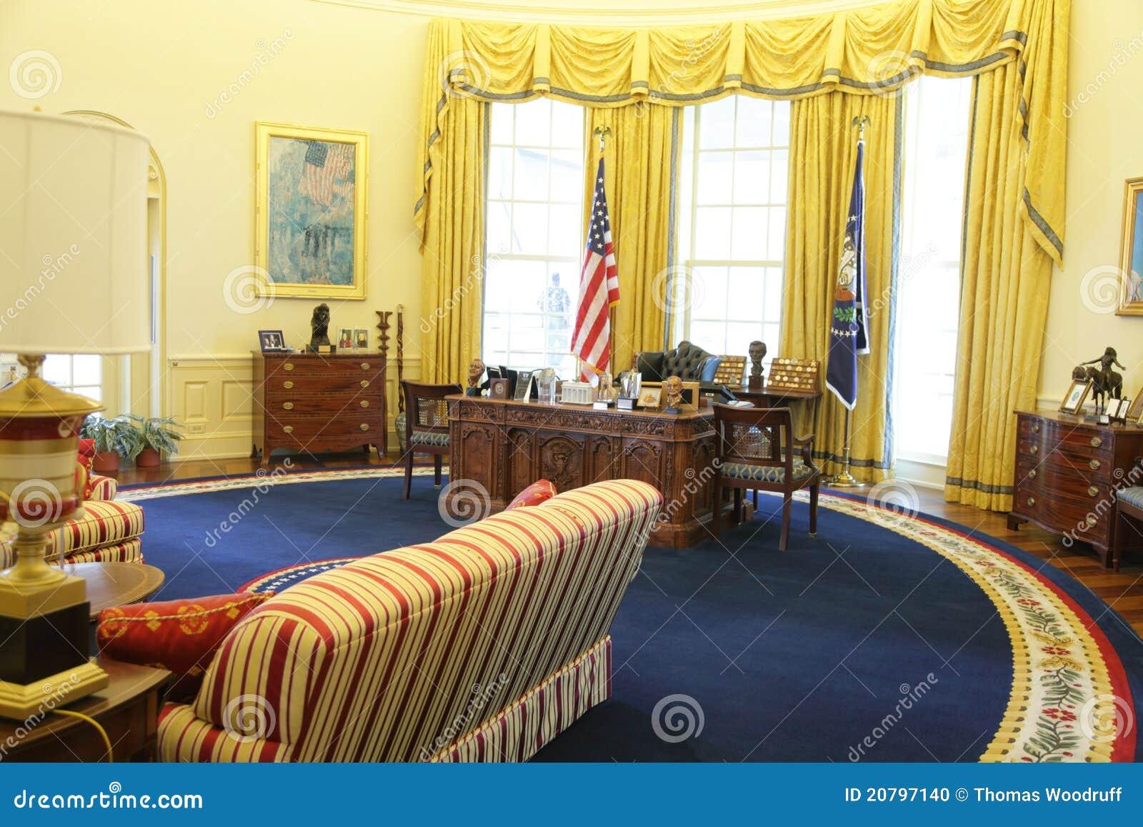 Le bureau ovale du président clinton image éditorial image du