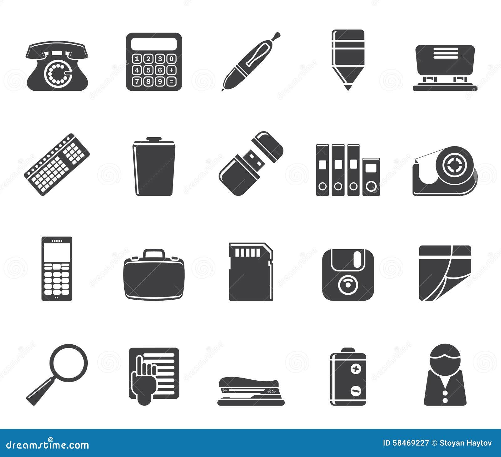Le bureau simple de silhouette usine des ic nes for Bureau simple